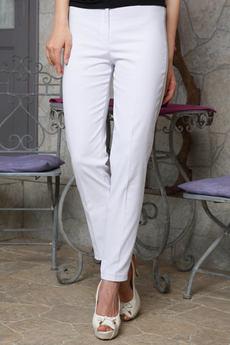 Белые хлопковые брюки Angela Ricci со скидкой